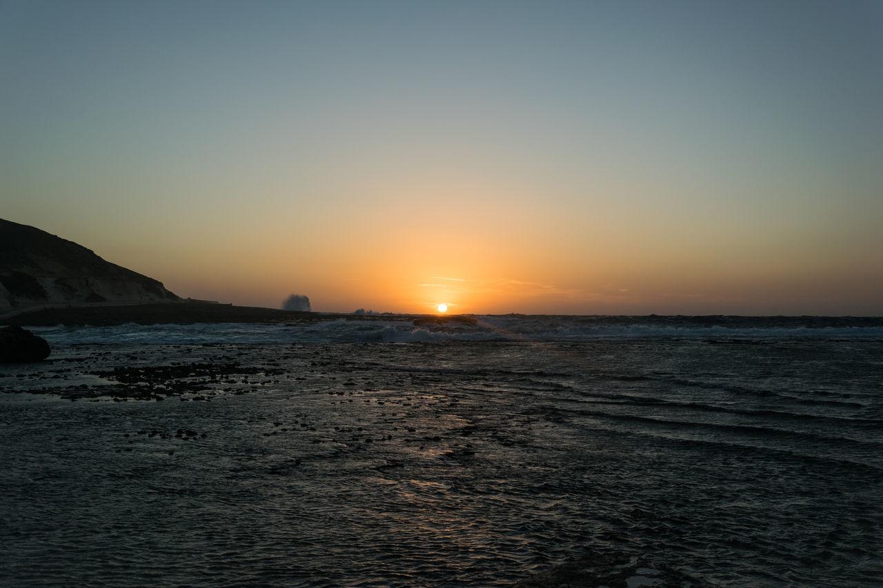 Sunset in Marsalforn on Gozo Beauty In Nature Day Dusk Gozo Gozo Malta Nature No People Ocean Outdoors Scenics Sea Sky Sunset Water