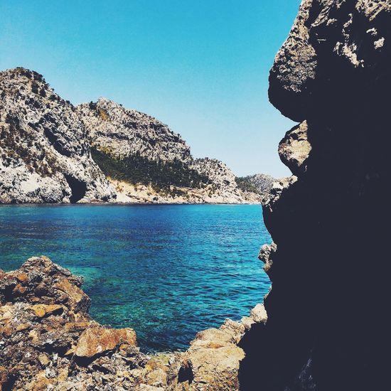 Rocks. Rock Rocks Sea Swimming Enjoying The Sun Mediterranean  Mediterranean Sea