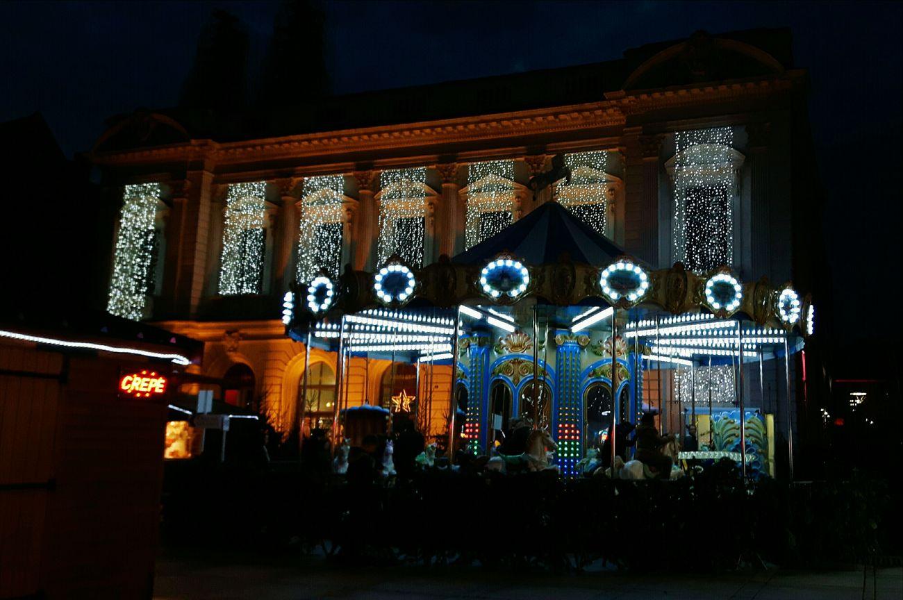 Manège  Theatre Crêpes Chalet By Night Lights Illuminations France