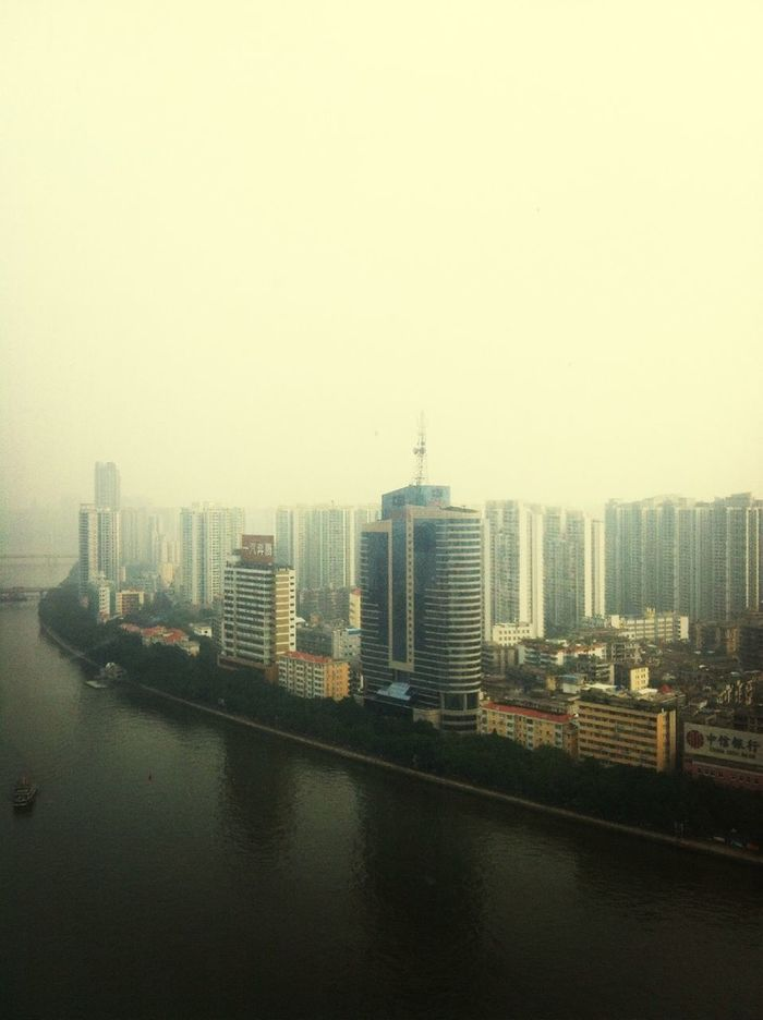 From Landmark Hotel,beside Zhujiang River,the Buildings Are Great Scenery Of Guangzhou❤