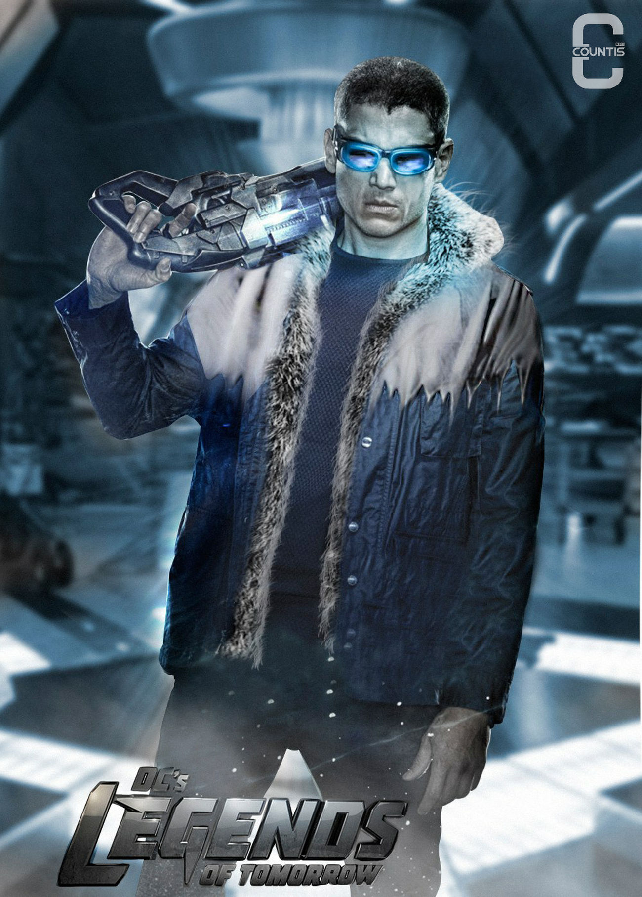 Captain Cold classic suit LegendsofTomorrow Leonardsnart Captaincold Fanart Digital Art Digitalart