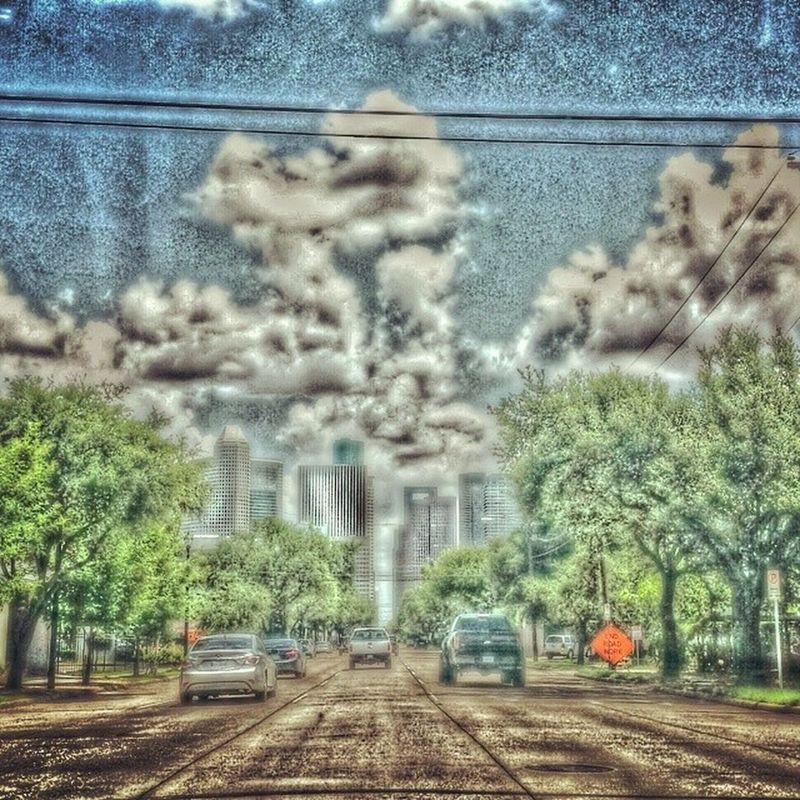 This looks so sick! ? Editing Boss Nigguh City houston texas cartoon instagood instadaily love peace tree road cars picsart clouds sky HD 2014 pro shot follow me