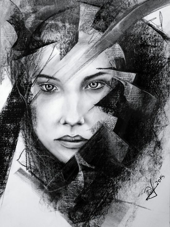 Beauty Drawing Portrait B&W Portrait ArtWork Art Blackandwhite Photography EyeEm Best Shots Hello World Painting Artist Creativity Art, Drawing, Creativity EyeEmArtists my latest drawing, charcoal and chalk on paper A3