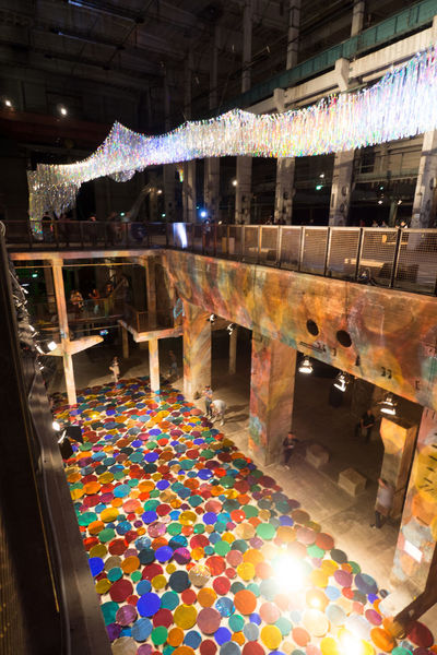 Industry Day Dots Hall Illuminated Indoors  Multi Colored No People Perspectives Playground