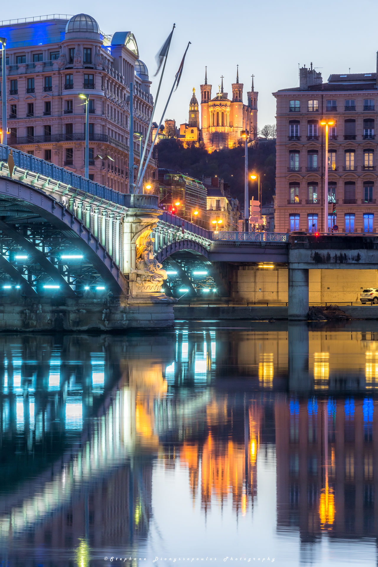 Lyon Reflection City Night Architecture City Life Cityscape River Outdoors Travel Destinations Water Sky Rhonealpes Travelling Only Lyon Travel Photo Rhône Photography France Lyon France LyonCity Sunset Cityscape Tranquility