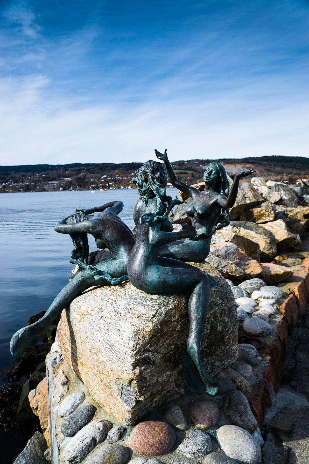 Day Drøbak Human Representation Mermaids Nature No People Outdoors Pebble Rock Rock - Object Scenics Sculpture Sea Sky Stack Stone Stone - Object Stone Material Sunlight Tranquil Scene Tranquility Travel Traveling Water