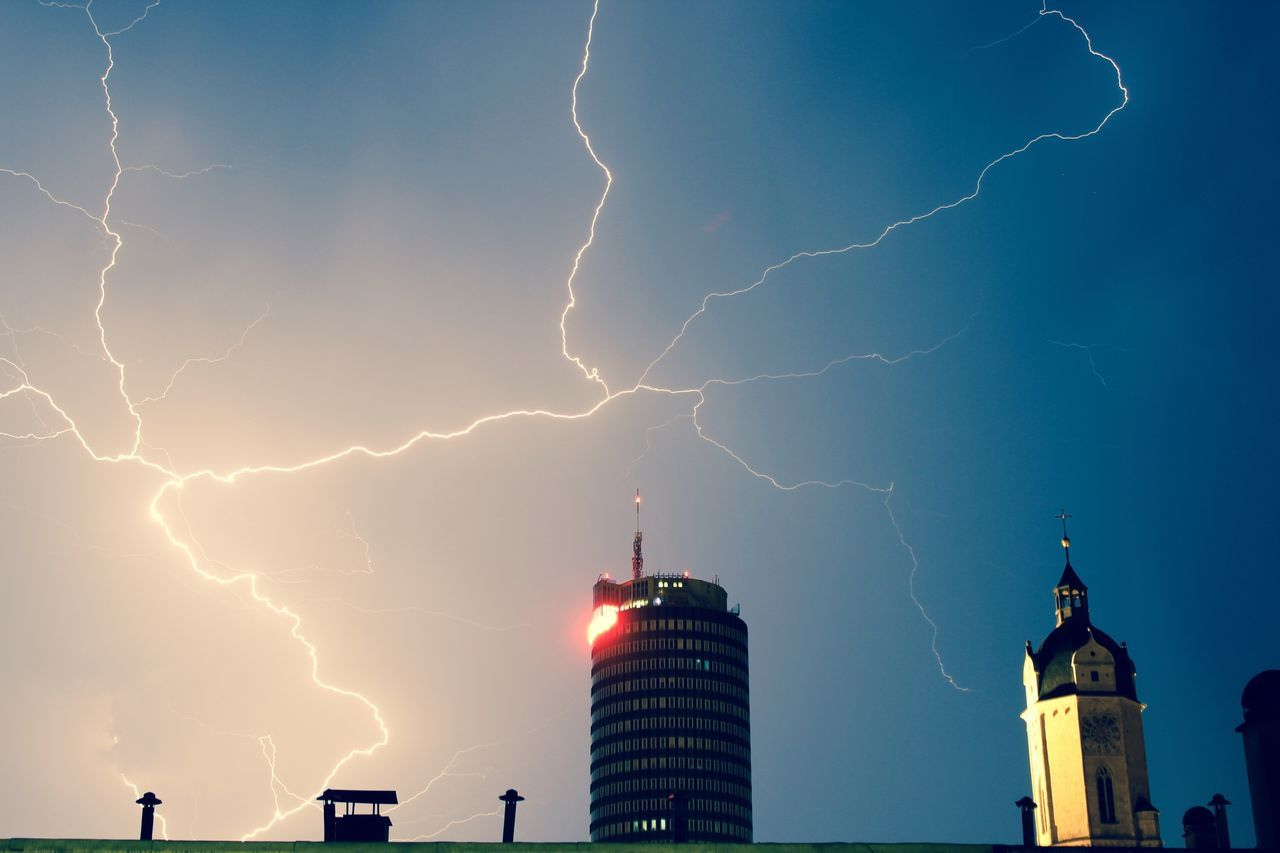 Beautiful stock photos of lightning, Architecture, Building, Building Exterior, Built Structure