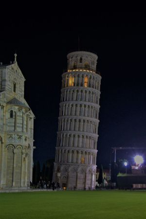 Pisa Pisa Cathedral Pisa Tower Architecture Building Exterior Built Structure Grass History Illuminated Night Outdoors Religion Spirituality Tourism Travel Destinations