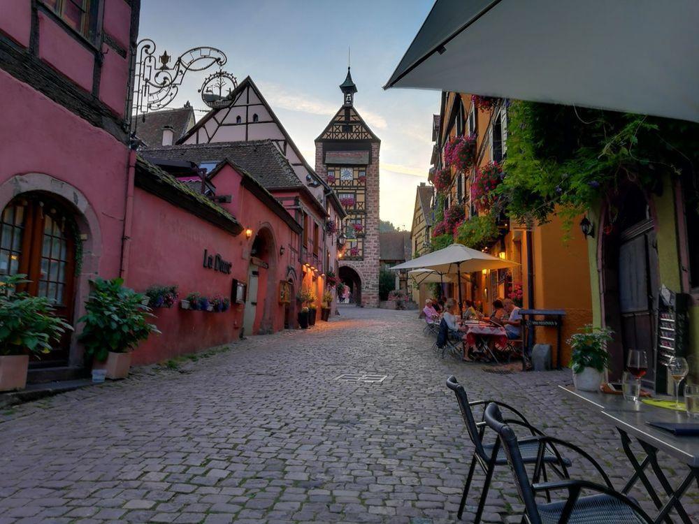 Architecture Beauty Tourism History City Cityscape Outdoors No People Riquewihr