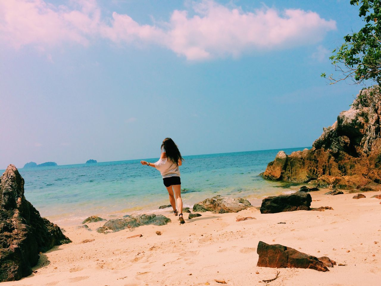 IPS2015Summer Sunny Sunny Day Beach Beautiful Beautiful Nature Paradise Girl Happiness Running
