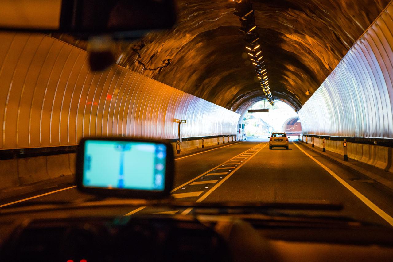 transportation, tunnel, illuminated, the way forward, indoors, mode of transport, rail transportation, no people, day