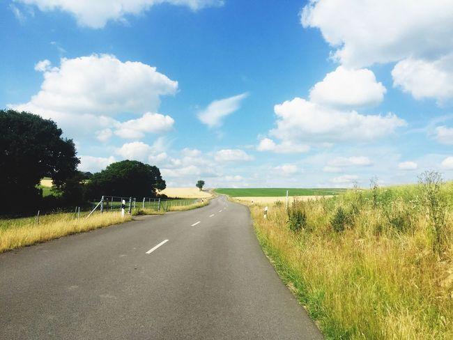 Freedom of empty road Roadtrip Road Roadcycling Summer Nature Landscape Horizon Roadbike Backgrounds Clear Sky Horizon Over Land Empty Places No People Luxembourg Rural Rural Road