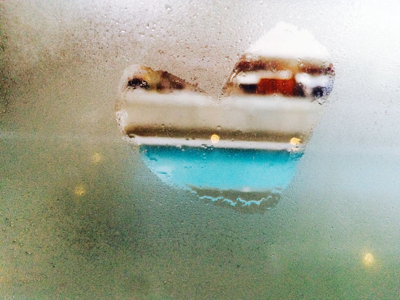 Día de lluvia Otoño Lluvia Corazón Ventana Ventana , Window  Empañado Vidrio Heart Love Lluvias Santiago Chile
