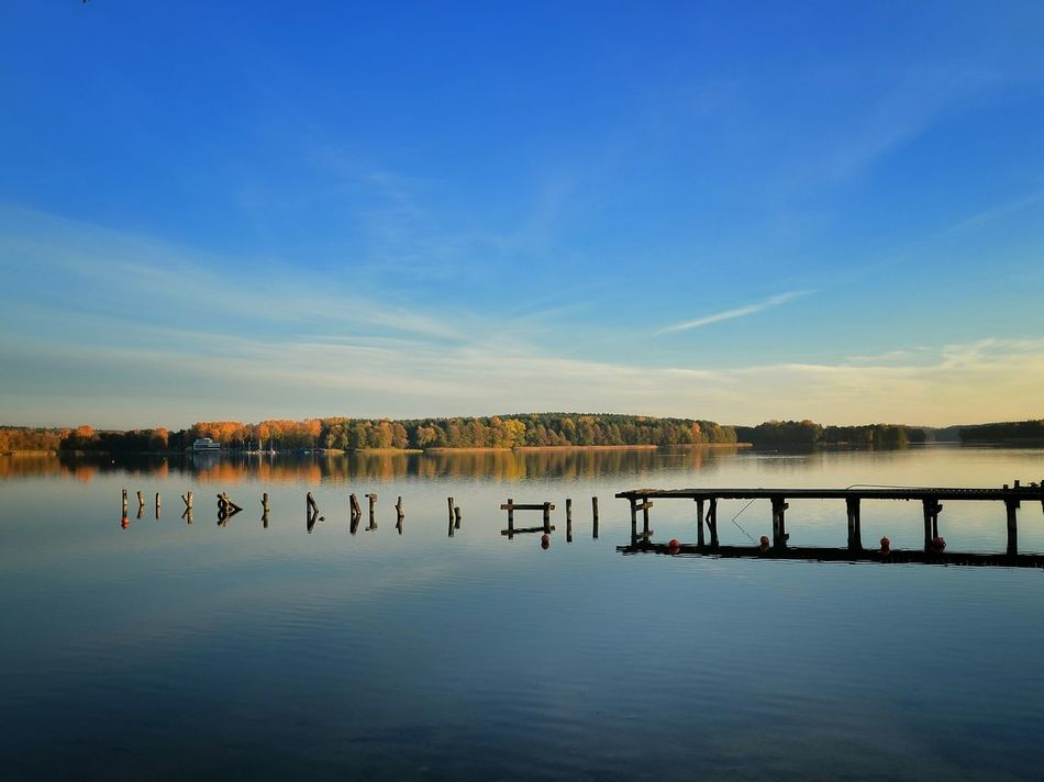 Reflection Outdoors Lake Blue Sunset Sky Day Water No People Clear Sky Nature Landscape Waterscape Lakescape Sun Summer Poland Polen Nature Jezioro Warmia Mazury The Secret Spaces EyeEmNewHere
