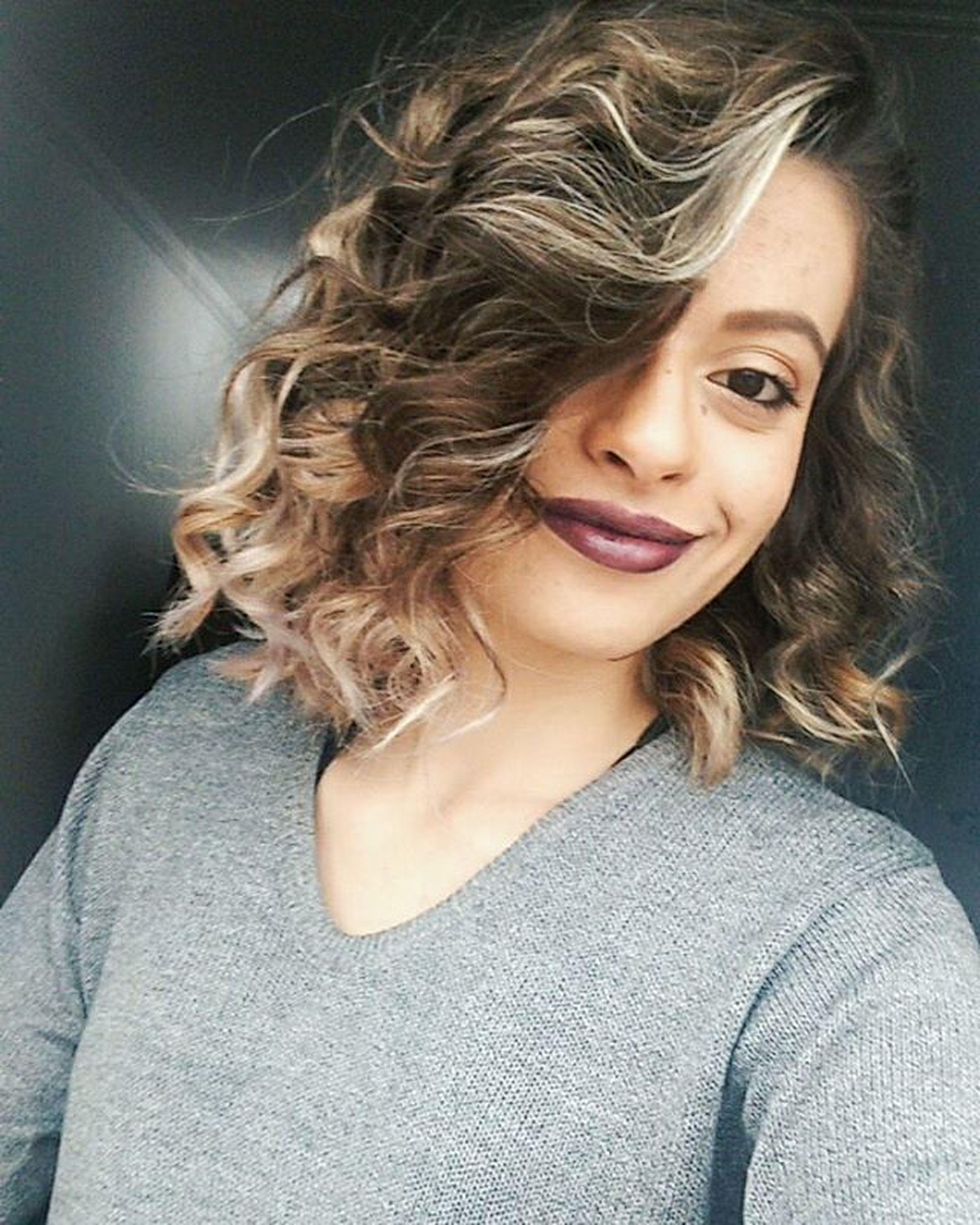 Agora com cachinhos! 😊💆💇👌💜 Curly Longbob New Selfie VSCO VeraYokoiBeauty Messybob