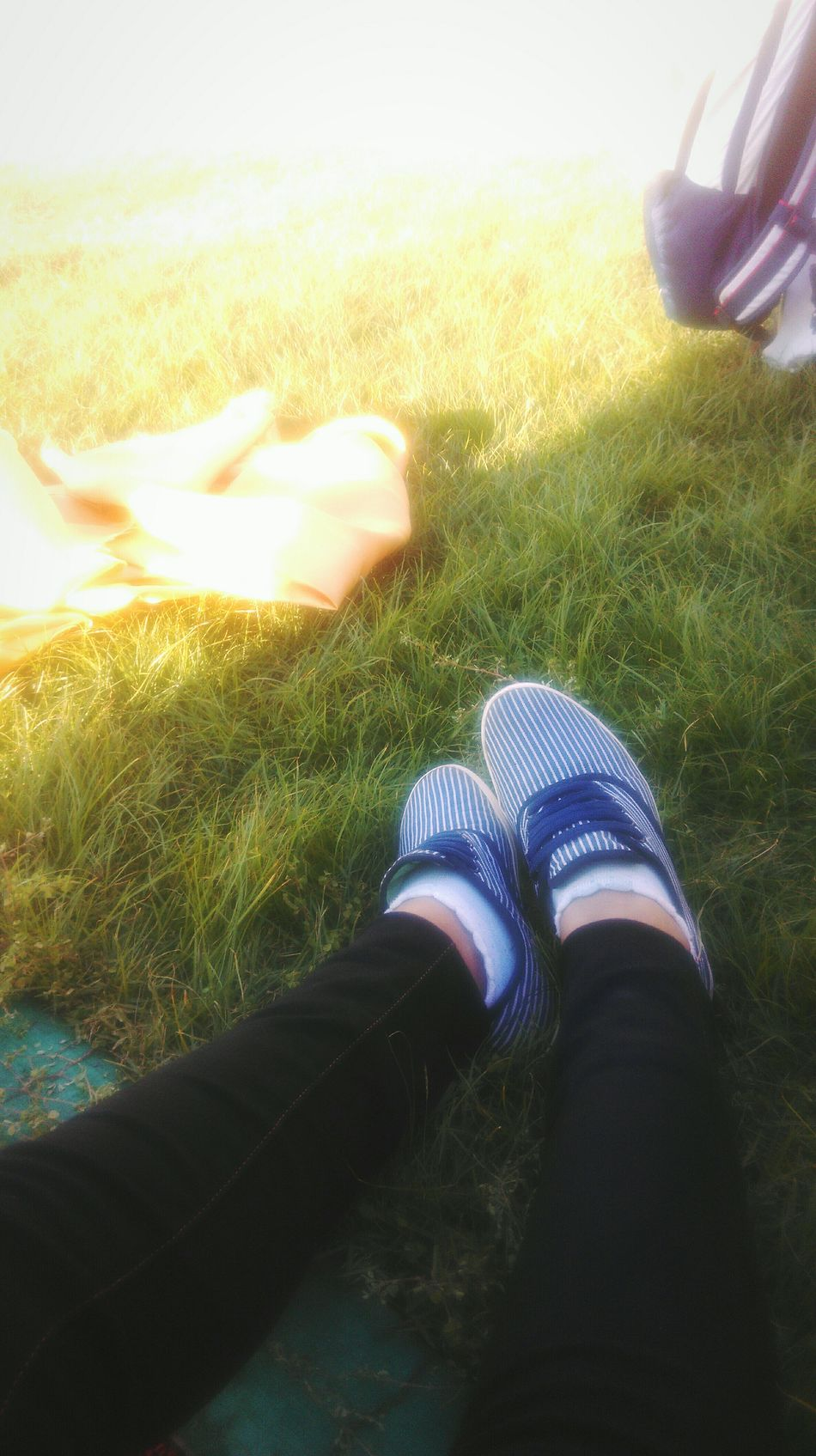 Sitting On The Grass Shoes Sun Hotestday