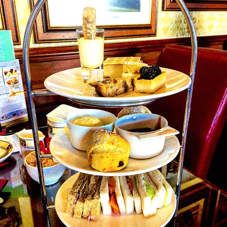 Afternoon tea at Whittlebury Hall hotel & Spa Afternoon Afternoon Tea Tea Coffee Scones Strawberry Strawberry Jam Cream Clotted Cream Sandwiches Petit Fours Desert Cakes Whittleburypark Whittleburyhall Whittlebury Hall Northamptonshire Northants Uk United Kingdom