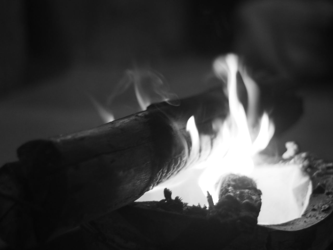burning, flame, heat - temperature, close-up, no people, selective focus, focus on foreground, outdoors, night, nature