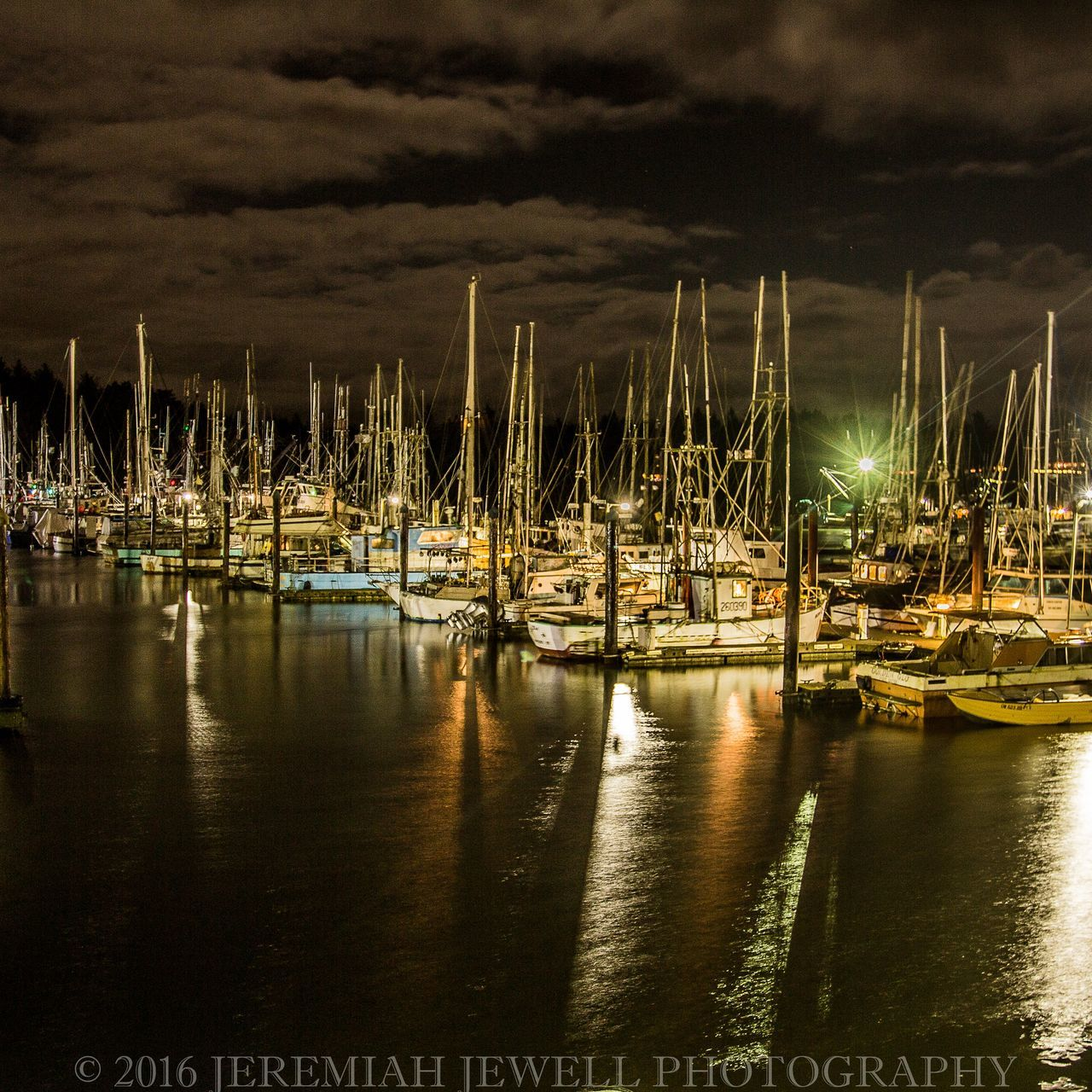 Jeremiah Jewell Photography Charleston Oregon Pacific Northwest  Coos Bay DSLR Photography Canonphotography Photography Night Sailboat Harbor Moored Nautical Vessel Reflection Long Exposure Night Photography