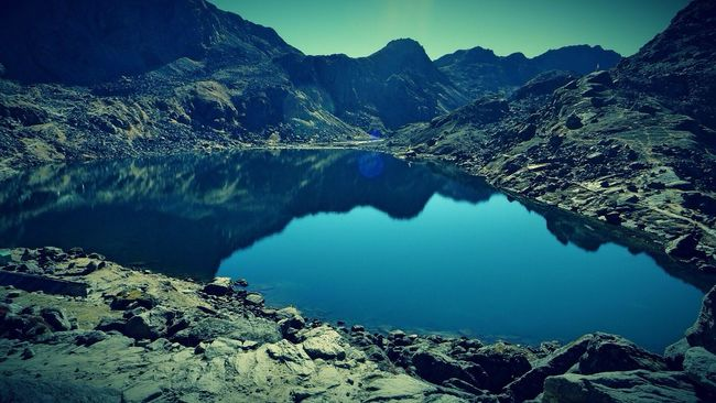Gosaikunda Trek View Of Beautiful  Lake