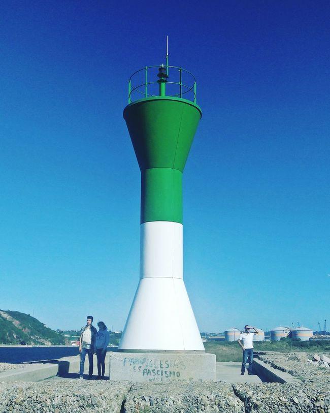 Blue People Standing Clear Sky Day Outdoors Asturias Spain🇪🇸 Lasuma Vacations The Week On EyeEm Sunlight Beach Lighthouse