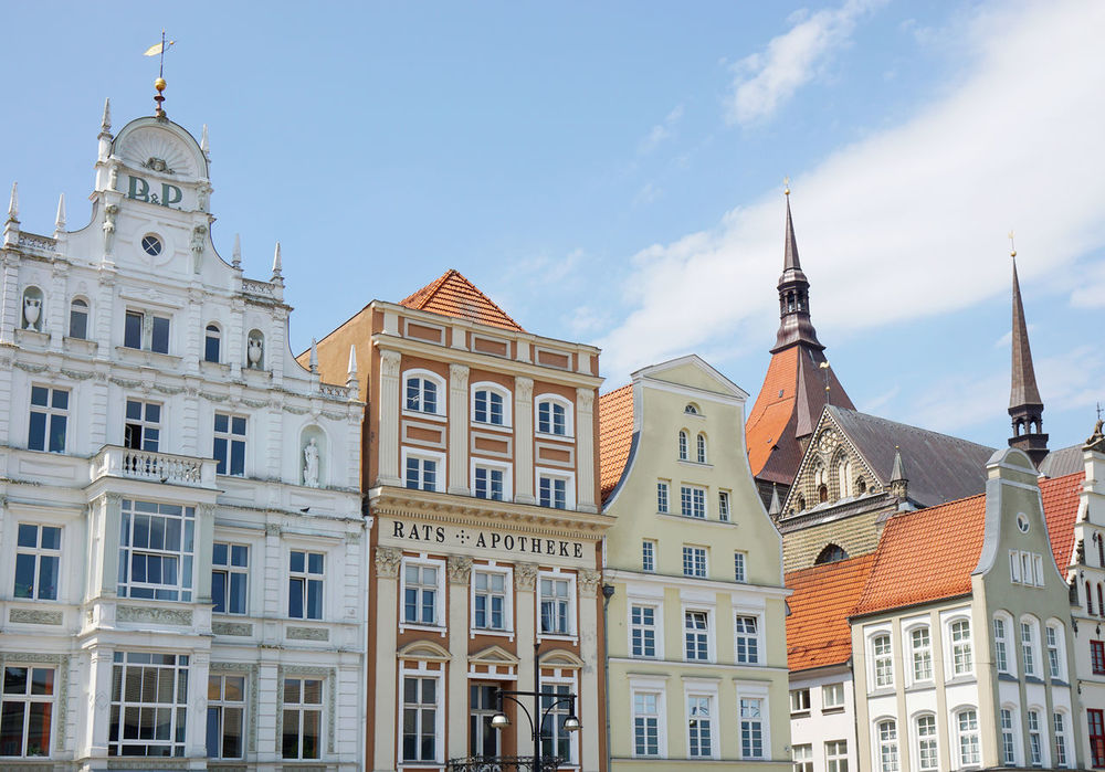 Neuer Markt Architecture Building Building Exterior City Day Façade Gable Germany Hanseatic High Section Historic Houses Low Angle View Market Square Neuer Markt No People Outdoors Pediment Rostock Tourism Travel Travel Destinations