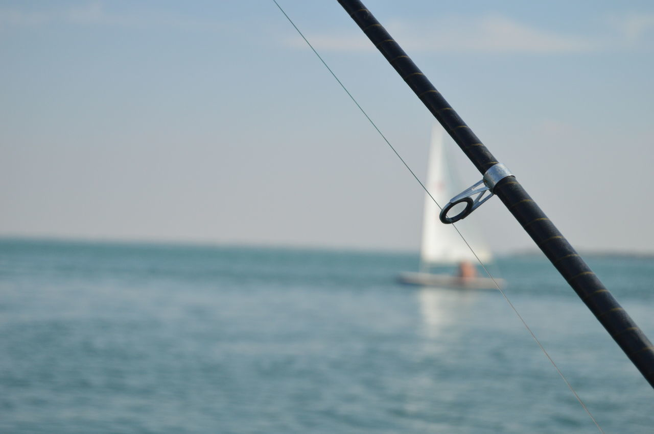Fishing... Fishing Rod Focus On Foreground Horizon Over Water No People Ocean Outdoors Scenics Sea Seascape Sky Waterfront Nightphotography Nikon D3200