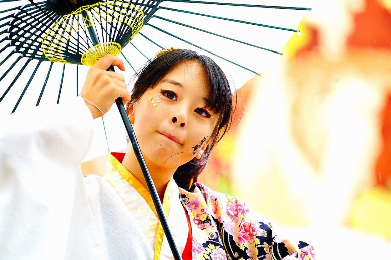 祭り 名古屋 Portrait 和傘 ど祭り