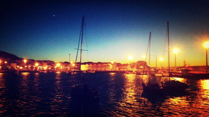 Boats Sea Nightlights Porto Do Son