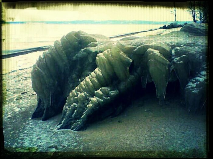 Sand And Stone With Ice On Strange Form Eye4ice