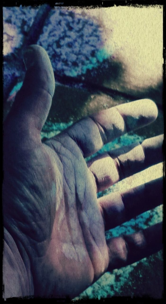 auto post production filter, one person, low section, real people, day, outdoors, one man only, men, human hand, human body part, human leg, close-up, nature, people