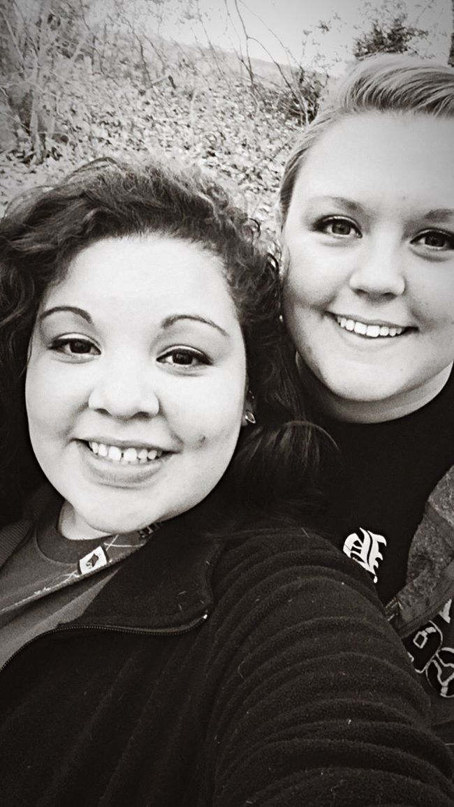 With the girlfriend at community park