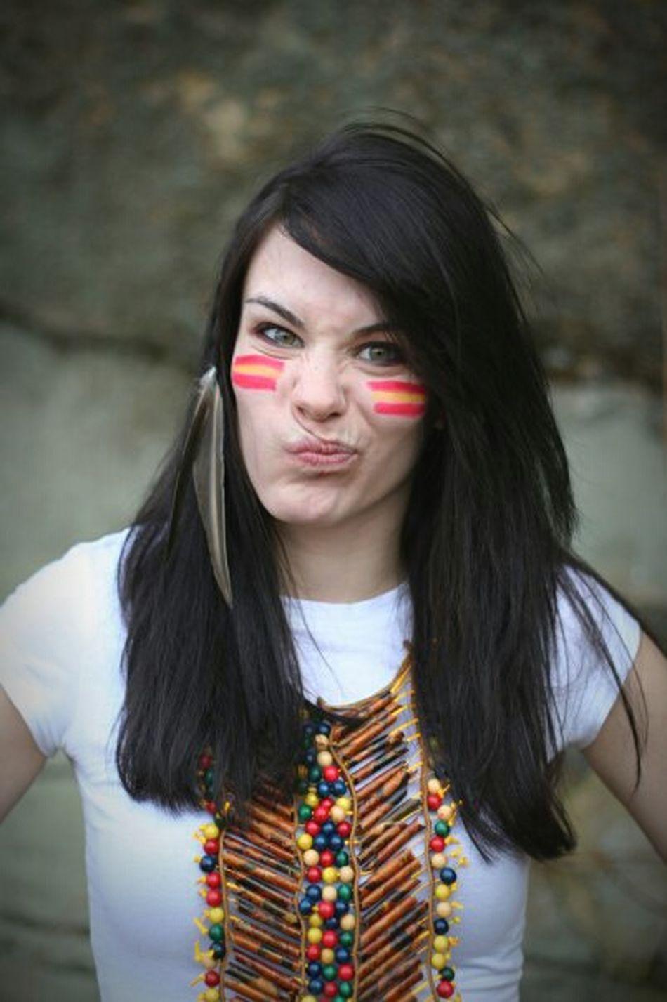 Girl Beautiful Photoshoot Photography Taking Photos Feather  Facepaint Grumpy