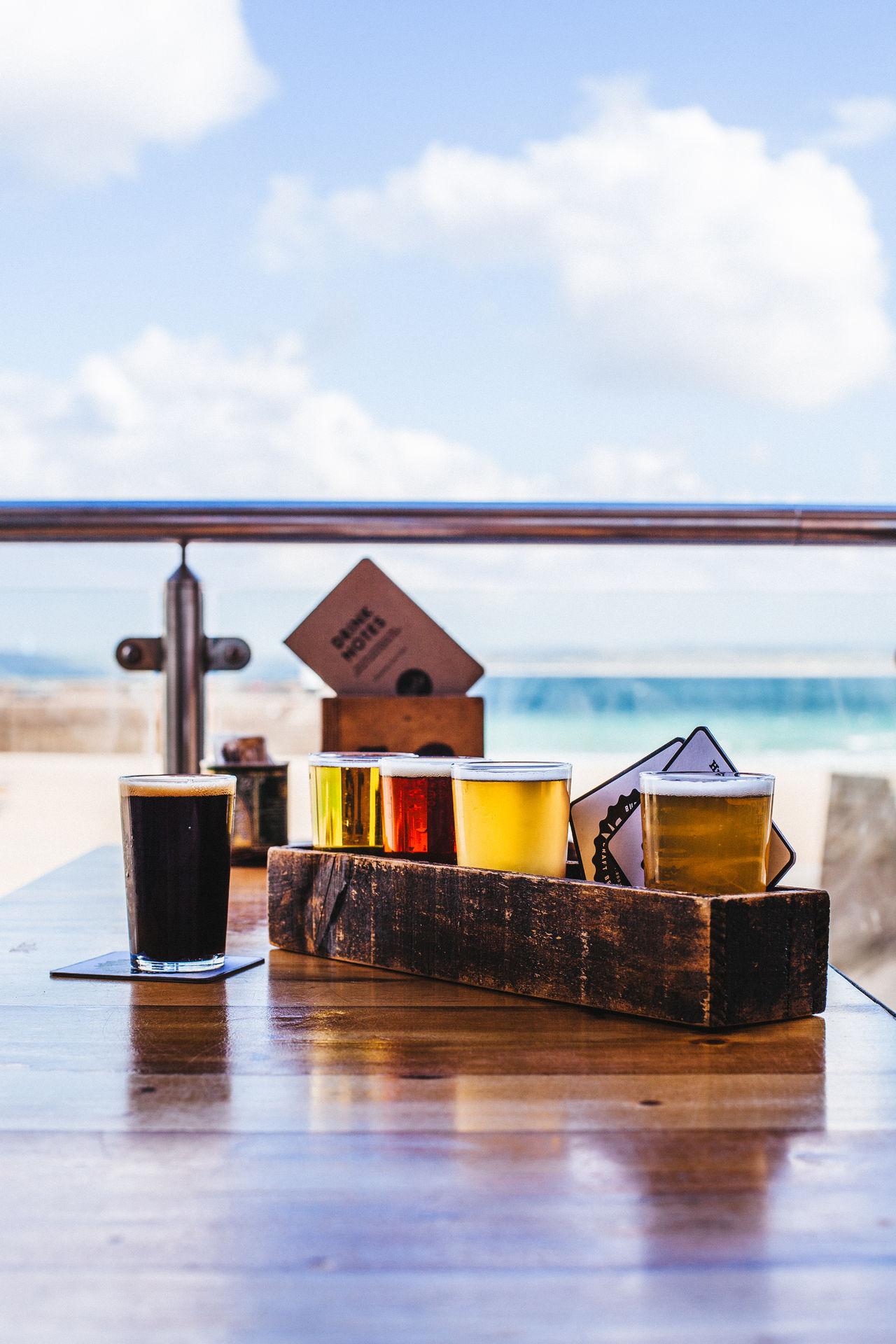 Alcohol Ale Beer Beer Flight Beer Flights Beer Tasting  Beer Time Beers Cable Cloud Cloud - Sky Day Drinks Glass Hobbies IPA Ocean Sea Sky Stout Surface Level Tranquil Scene Tranquility Water Waterfront