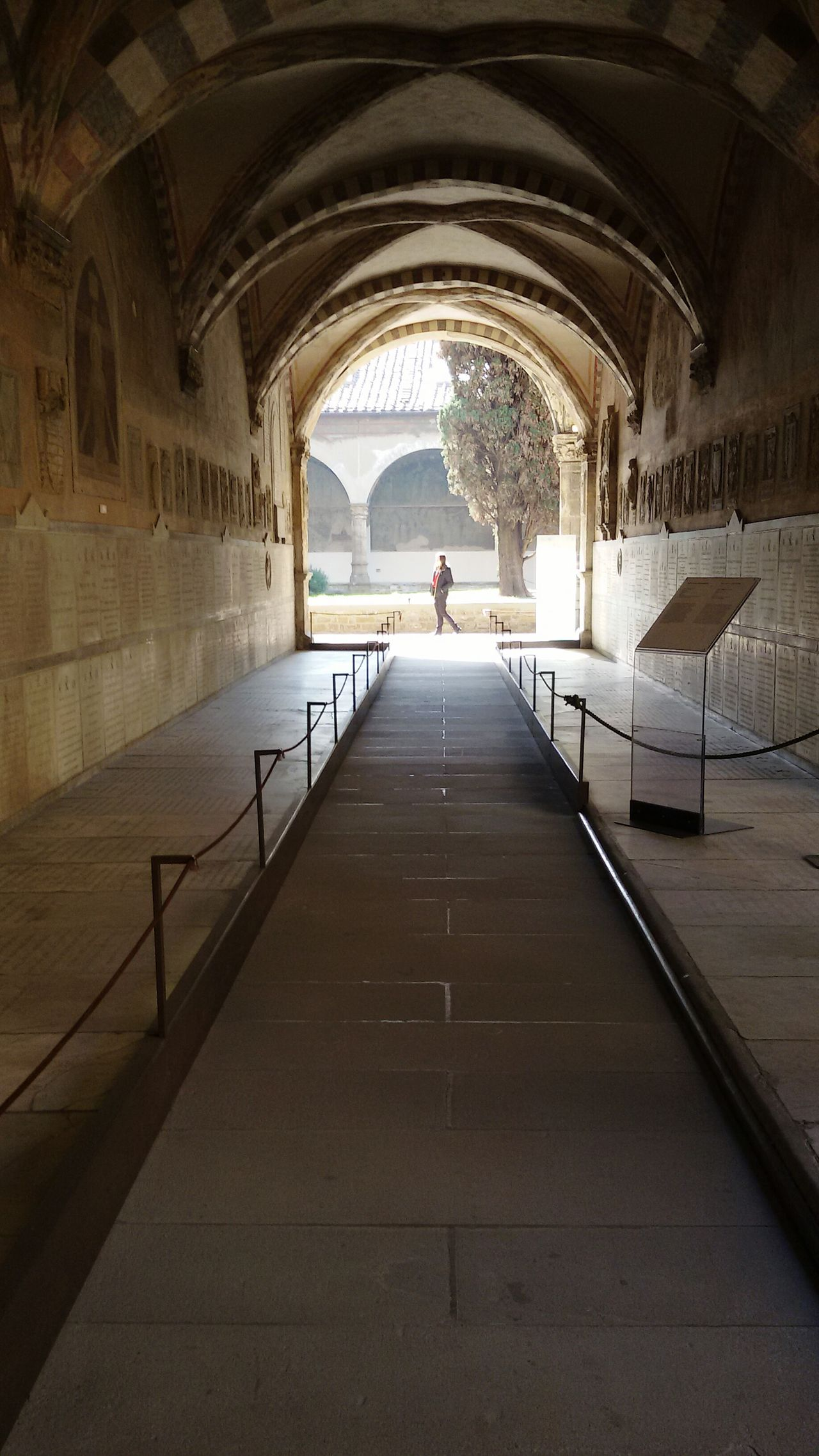 Firenze Archway Day Arch Architecture Built Structure The Way Forward Cloister Tunnel Santa Maria Novella One Woman Only One Person Antique Church sunny day Travel Destinations City