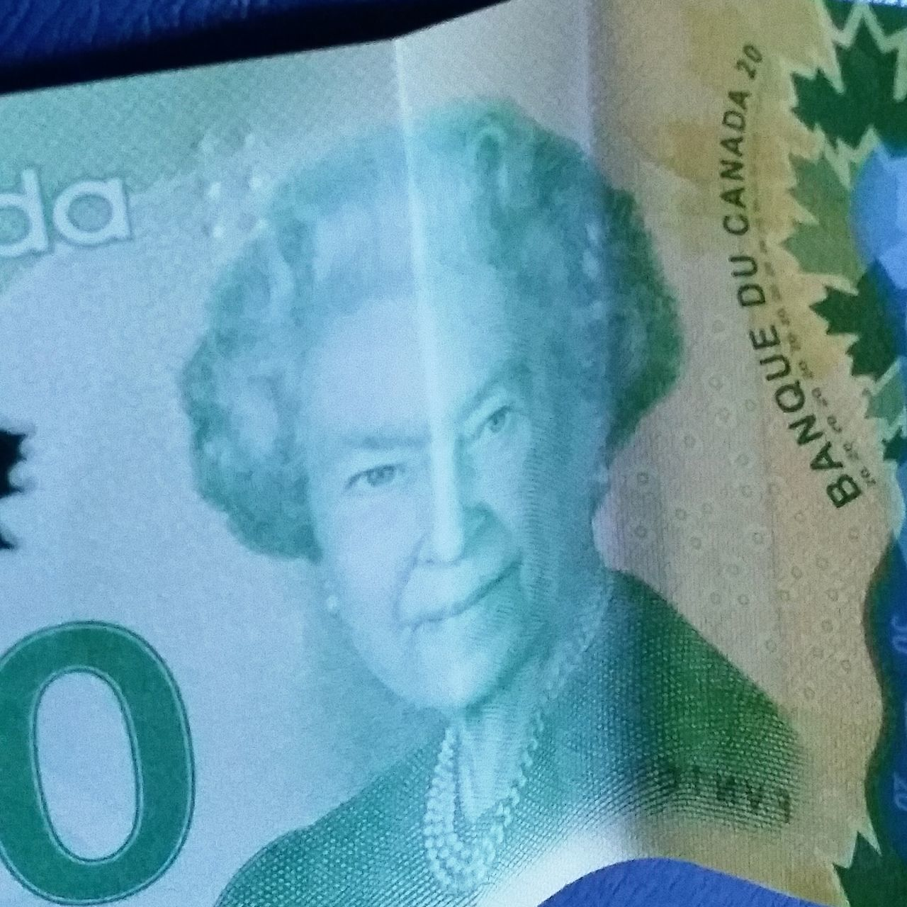Showcase March One Queen Two Faces Queen QEII Drama Queen  Canadian Dollars Happy Face