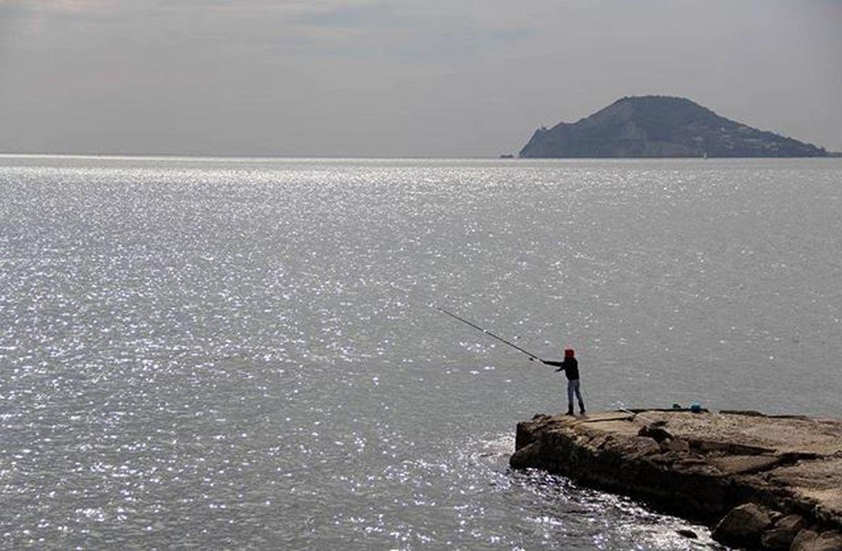 Mare Sea Cielo Pozzuoli Fisherman Pescatore Uomo Peshkatar Det Napoli