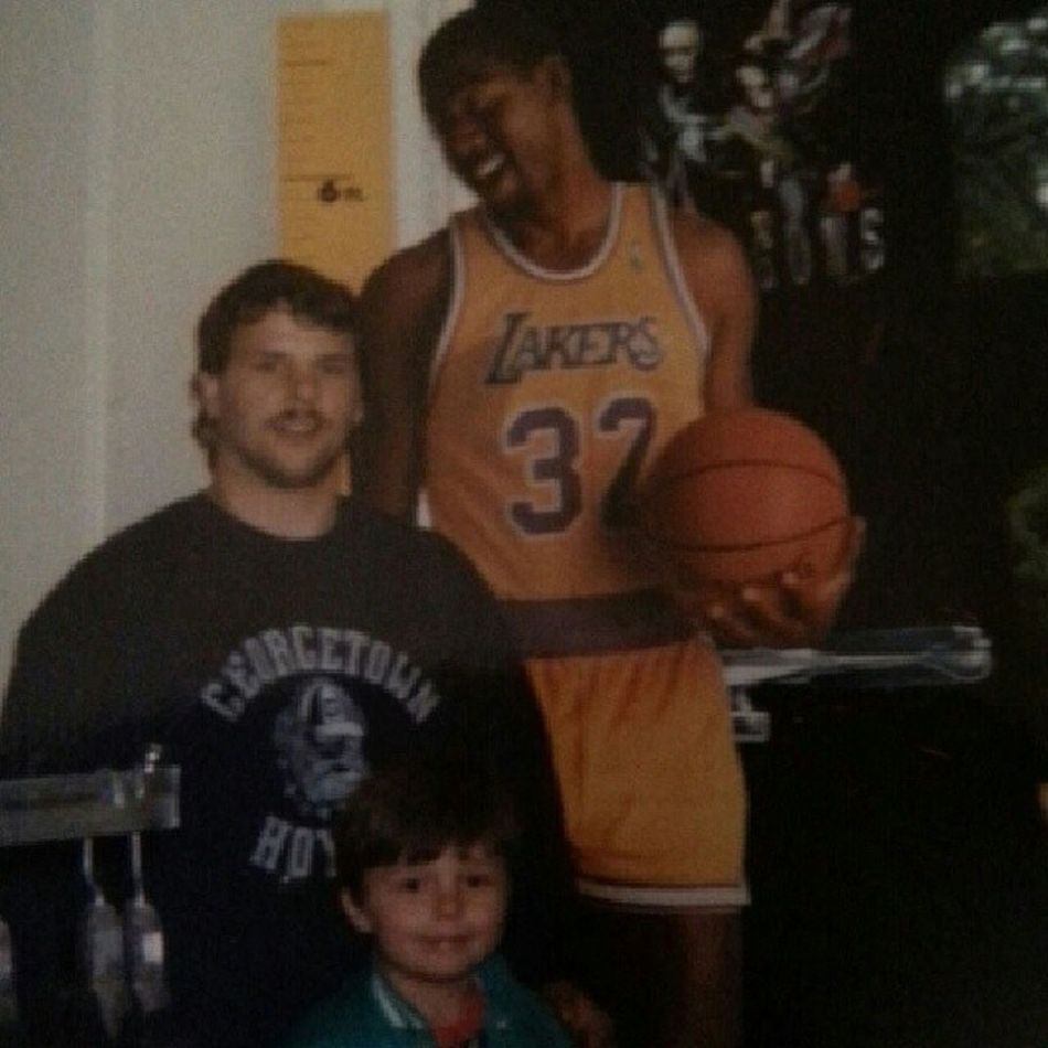TBT  Georgetown Hoyas Magicjohnson Lakers sorry @kalliopii_ you didn't fit in crop