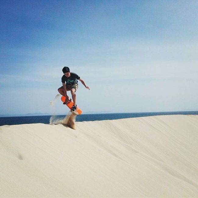 Sand Sunlight Full Length Sky Shadow Tranquility Tranquil Scene Day Summer Sea Vacations Scenics Remote Escapism Nature Snowboarding Snowboard First Eyeem Photo