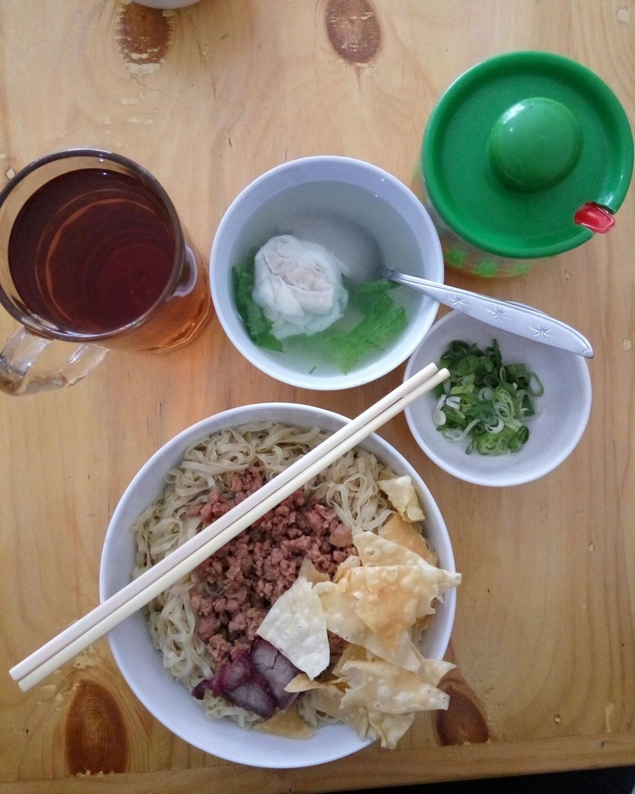 Bakmi (Noodle) High Angle View Plate Indoors  Table Food And Drink No People Bowl Food Ready-to-eat Freshness INDONESIA Serving Size Temptation