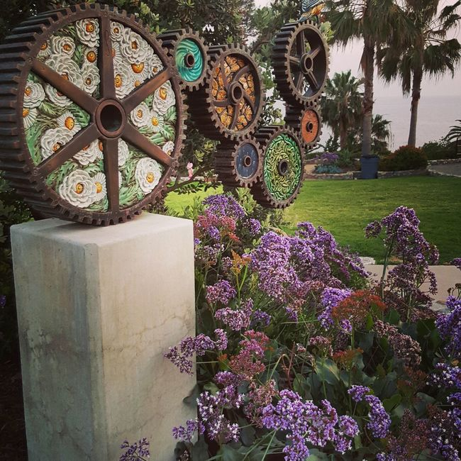 Heislerpark Laguna Beach Art Sculpture Flowers Flowers, Nature And Beauty