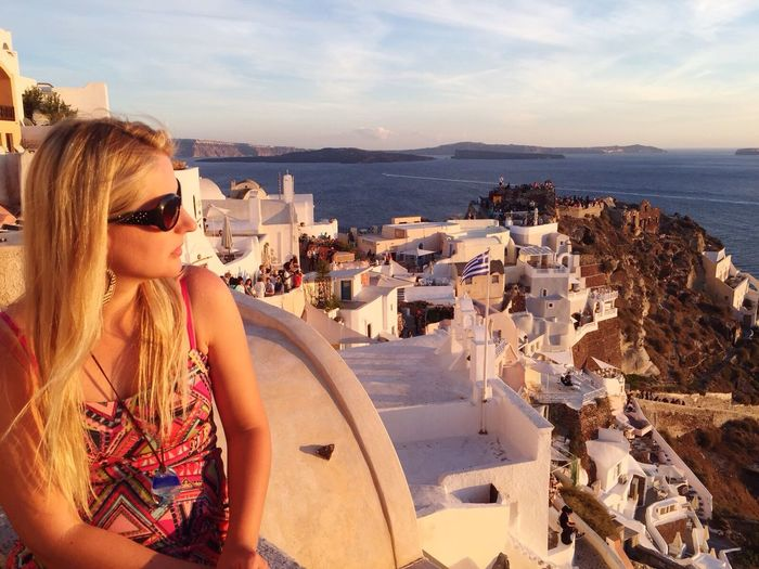 Summer Memories... Santorini Island Beautiful Surroundings Portrait Of A Woman Beautiful Life From Santorini With Love