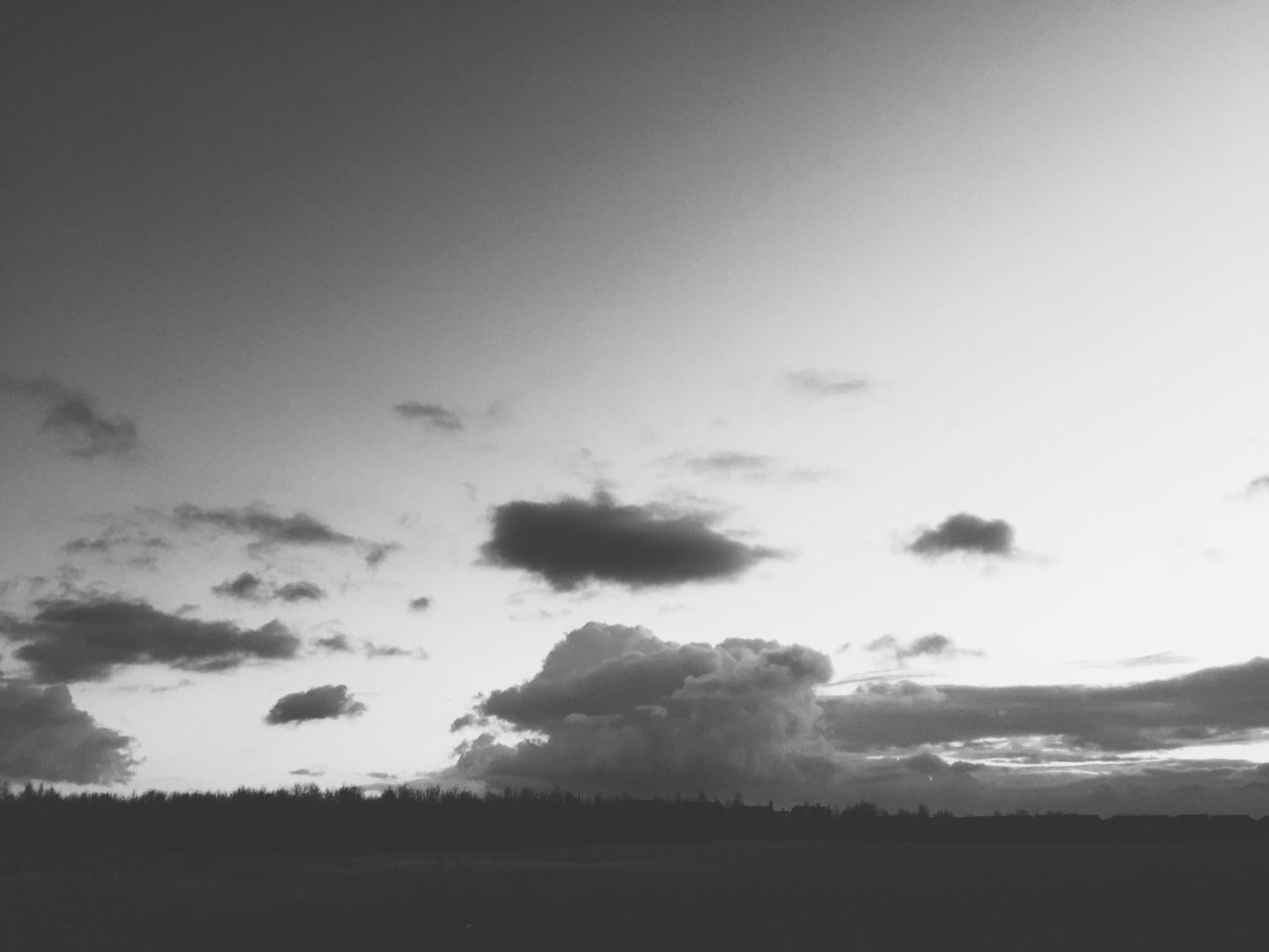 Big Clouds Dramatic Sky Blackandwhite Photography IPhone Open Space Ad Space Moody Atmospheric Fields Big Sky After Sunset Relaxing