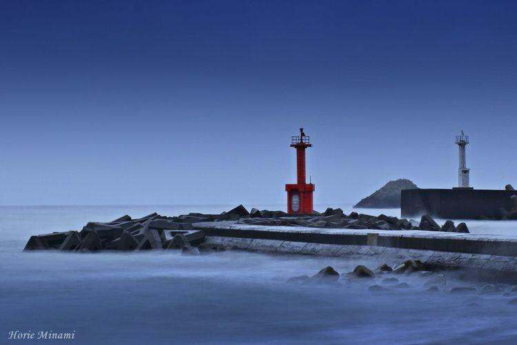Lighthouse Water No People Blue EyeEmNewHere EyeEm Best Shots EyeEm Team Japan 徳島県 大浜海岸 Long Exposure