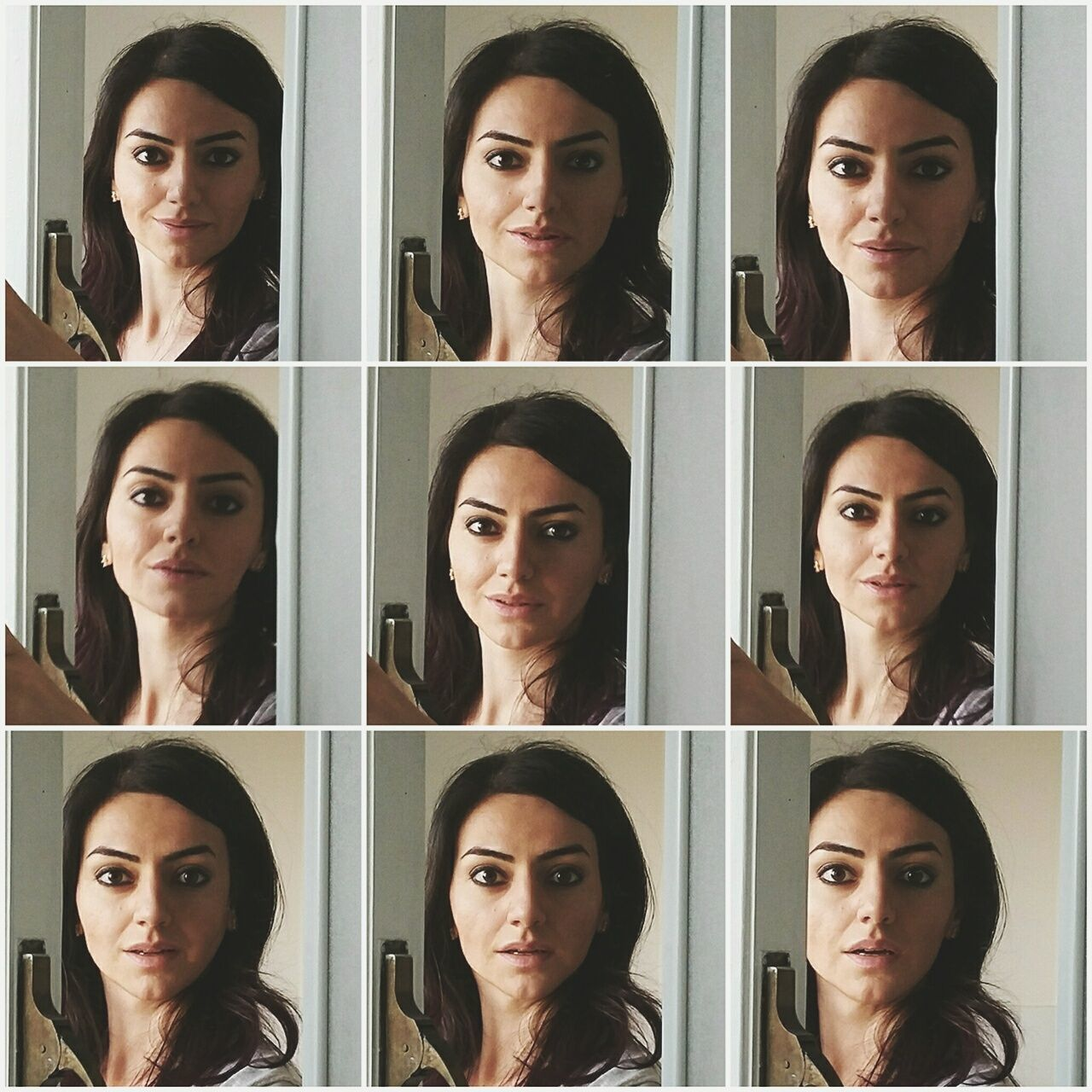 70s movie poster Portrait Serious Only Women Human Face Emotion Headshot Adults Only Human Body Part Individuality Variation Front View Looking At Camera One Woman Only Facial Expression Multiple Image Human Head Adult Contemplation Making A Face Mirror Picture Mirror Reflection Mirror Selfie Day