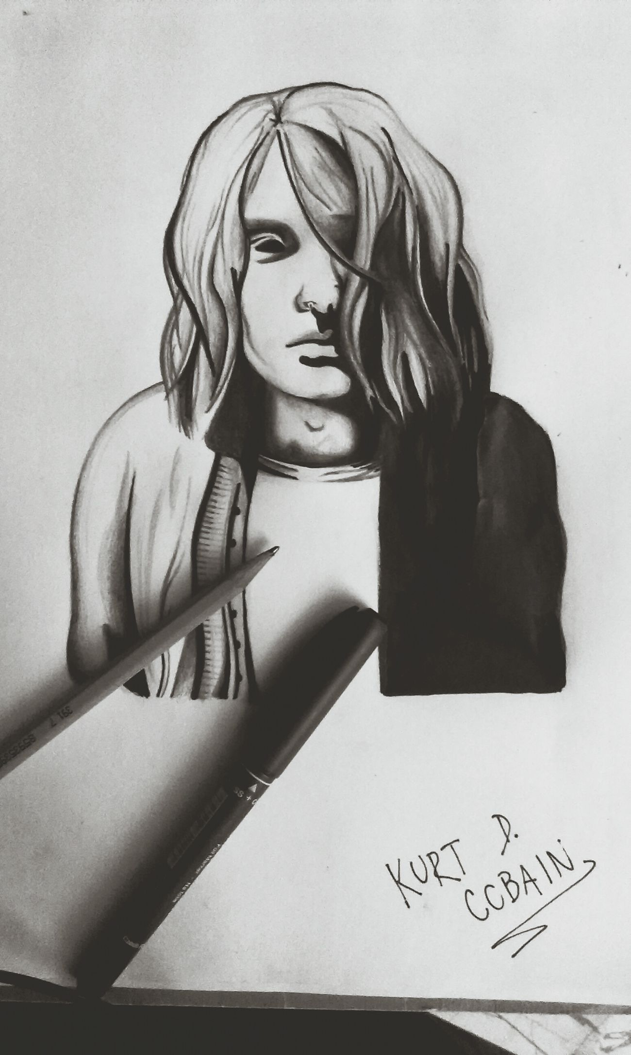 Kurt Cobain Grunge Love Music Nevermind. Bestsinger Emotions Feelings Draw My Drawing