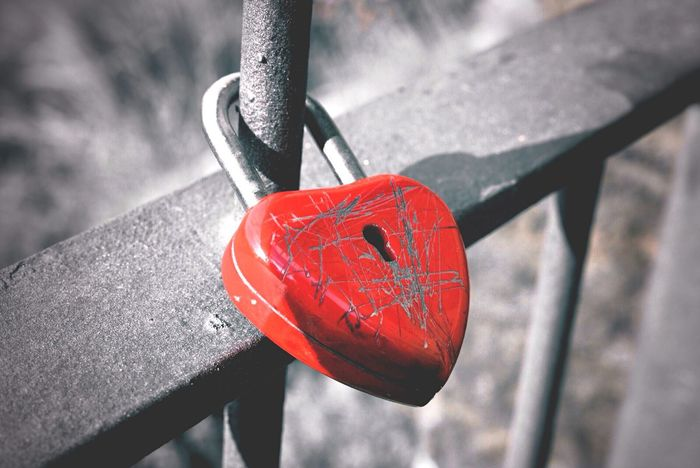 | scrached heart | Heart Lock Locker Key To My Heart Locked Scars Destroyed Colorsplash Locked Up Heart Shape Scratches Scratched I've Got The Key, I've Got The Secret Key To Your Heart Red Heart Metal Safety Metal Lock