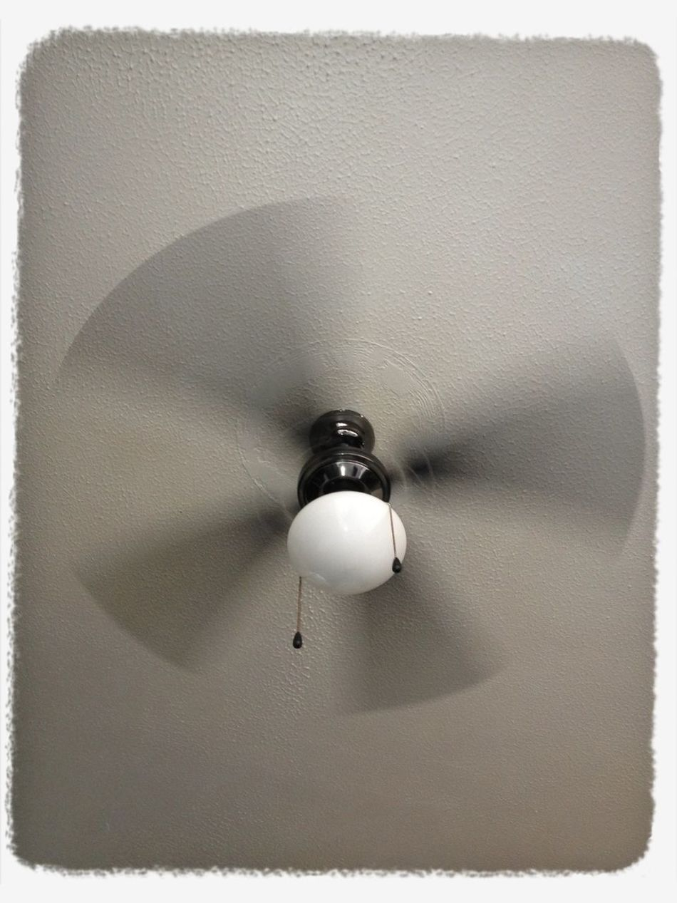 For the first time since I got back to England, I've switched on the ceiling fan...28C...result!