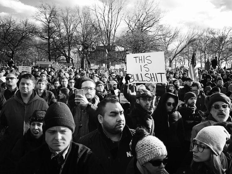 This Is Bullshit Streetphotography New York City EyeEm Best Shots - Black + White EyeEm Best Shots Politics NYC Nobannowall The Street Photographer - 2017 EyeEm Awards