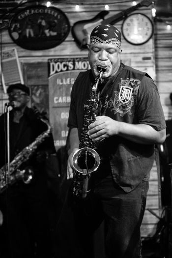 Blues Chicago Man Music On Stage Soul Black Blowing Club Jazz Music Loud Microphone Musical Instrument Musician Nightlife One Person Performance Performing Arts Event Playing Playing Loud Real People Rock Music Saxophone